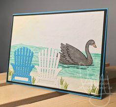 Black Swan | Stampin\' Up! | Swan Lake | High Tide | All Things Thanks #literallymyjoy #blackswaninn #blackswaninnberkshires #leema #craftretreat #thankyou #blackswan #swan #adirondackchair #lake #watercoloring #2017OccasionsCatalog #20172018AnnualCatalog