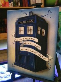 doctor who, TARDIS, painting, really nice Doctor Who Art, Diy Doctor, Don't Blink, Time Lords, Geek Out, Dr Who, Superwholock, Nerdy, Geek Stuff
