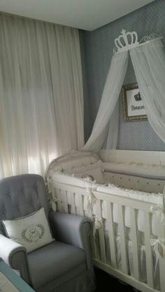 Dormitório do urso príncipe. Projeto Arquiteta Daniele Cardoso. @dcarq_baby | facebook.com/dcarq