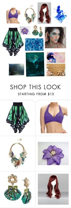 """""""The Little Mermaid Redesigned"""" by alexandram260 ❤ liked on Polyvore featuring Fantasie, Betsey Johnson and Disney"""