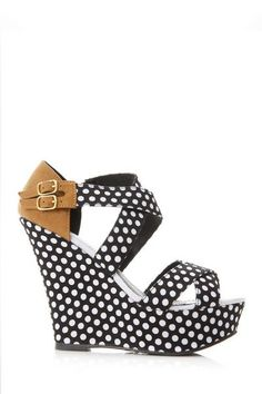 e0cfc7cc81 Double Buckled Polka Dot Strap Wedge @ Cicihot Wedges Shoes Store:Wedge  Shoes,Wedge Boots,Wedge Heels,Wedge Sandals,Dress Shoes,Summer Shoes,Spring  Shoes ...