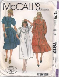 Laura Ashley Pullover Dress With Front And Back Yokes by Rosie247 ~ Prairie style