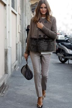 Olivia Palermo at Milan Fashion Week Fall/Winter 2012 Estilo Olivia Palermo, Olivia Palermo Lookbook, Olivia Palermo Style, Olivia Palermo Wedding, Olivia Palermo Outfit, Style Work, Mode Style, Her Style, Fashion Mode