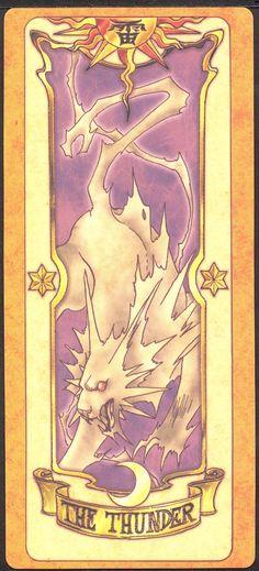 The Thunder (Trovão) - Trovão é uma carta forte, porém sem nenhuma característica especial. Pode tomar a forma de um raio, mas sua verdadeira forma é a mesma do desenho da carta.