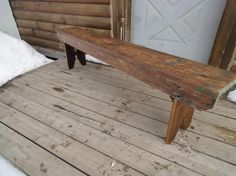 ANTIQUE PINE BENCH - dining benches like this