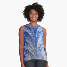 Fractal Art, Chiffon Tops, Athletic Tank Tops, Digital Art, Printed, Awesome, Accessories, Black, Products