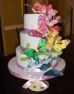 Hand Painted Silk Butterflies