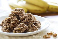 Breakfast cookies...made with bananas, oatmeal, and walnuts. Each cookie is 1pt+. Replace the nuts with mini chocolate chips... still 1 point. These taste a lot better if you don't think of them as cookies. :) They also get a little weird after refrigerating.