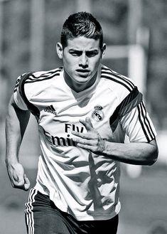 James Rodriguez en su primer dis de entreno en el Real Madrid // first day of…