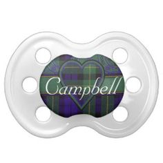 Campbell of Breadalbane Scottish Tartan Baby Pacifier