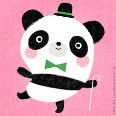 Mr. Panda | flora chang, Happy Doodle Land