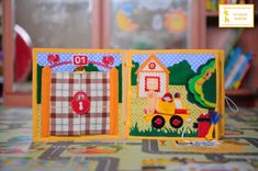 """Burning house with """"working"""" fire hose! Fidget Quilt, Busy Boxes, Sick Kids, Felt Food, Books For Boys, Any Book, Craft Patterns, Book Activities, Needlework"""