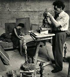 Alexander Liberman, Alberto and Annette Giacometti, 1950