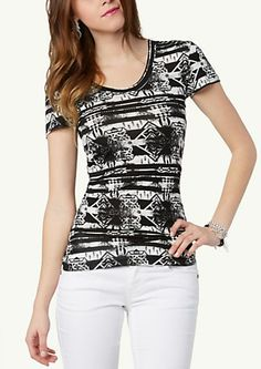 image of Graphic Tribal Tee