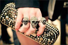 Skulls and studs ❤