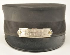 Porter's Cap for the Seaboard Air Line railroad with cap badge. Manufacturer marked Brunssen - Bleeker & Greene Sts New York NY. size: 7-1/4