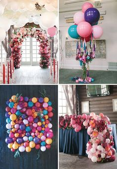 Epic Balloon Installations // Top 10 Wedding Trends for 2017 // www.onefabday.com
