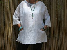 Hey, I found this really awesome Etsy listing at https://www.etsy.com/listing/174254960/white-linen-top-japanese-style-linen