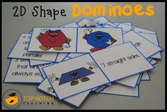 Games are such a fun way for kids to learn and practice various maths concepts. Here I share with you a 2d shape domino game that will help your students to learn the names of the shapes. The domin...