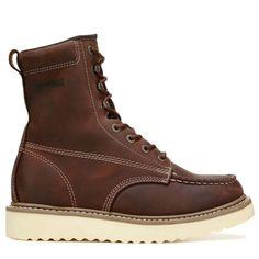 "Wolverine Men's Loader 8"" Medium/X-Wide Steel Toe Work Boots (Brown Leather)"