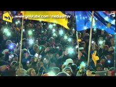 ▶ #Евромайдан исполняет гимн Украины - YouTube