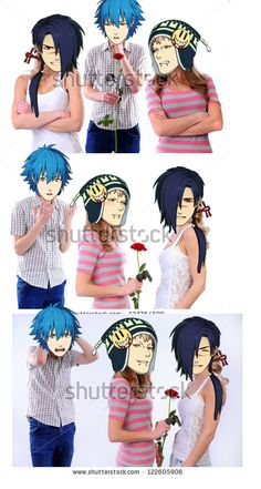 A Noiz, Aoba and Koujaku love story | I don't even know what to ship but this is funny X3