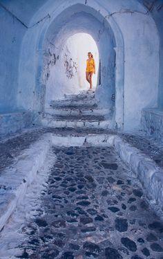 Pyrgos castle entrance, Santorini, Greece