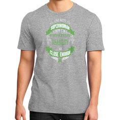 IM NOT SUPERWOMAN disability District T-Shirt (on man)