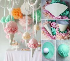 baby party, diy, icecream