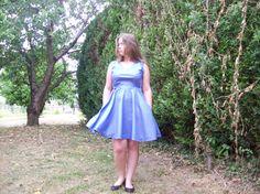 Robe réglisse en vichy bleu