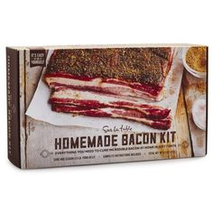 Fit For A Foodie- Sure, he loves bacon, but has he ever cured his own? And don't you want be the person who instills that important life change? DIY Bacon Kit, $20; surlatable.com. Click through to redbookmag.com for more foodie gift ideas.