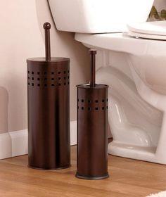 Decorative Bathroom Bath Stainless Steel Toilet Brush Plunger Sink Storage Set
