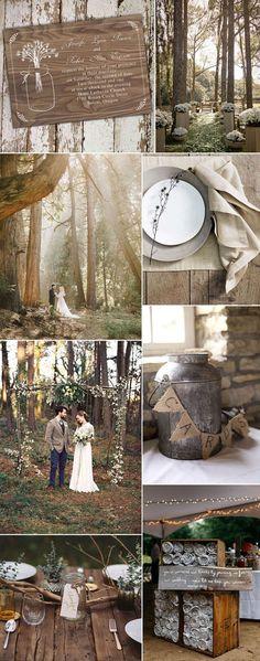 rustic woodland wedding ideas for fall weddings