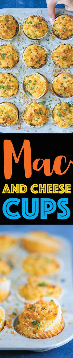 Mac and Cheese Cups - Damn Delicious Mac And Cheese Cups, Macaroni And Cheese, Kids Meals, Easy Meals, Best Comfort Food, Thanksgiving Side Dishes, Appetizer Recipes, Appetizers, Snack Recipes