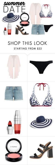 """summer date"" by tinky0869 on Polyvore featuring Shubette, Stone Fox, Paige Denim, Canvas by Lands' End, Lancôme, Vera Bradley, MAC Cosmetics, Marc by Marc Jacobs, beach and summerdate"
