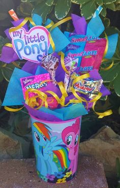 My Little Pony Kids Candy Party Favors from Lynn's Candy Creations Rainbow Dash Birthday, Rainbow Dash Party, My Little Pony Birthday Party, 4th Birthday Parties, Birthday Ideas, 5th Birthday, Birthday Stuff, Birthday Celebration, Cumple My Little Pony