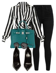 """""""#14761"""" by vany-alvarado ❤ liked on Polyvore featuring Levi's, Hermès, Christian Dior and Yves Saint Laurent"""