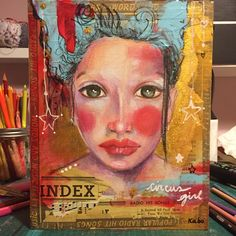 Mixte media on wood 10x12 inches available