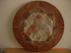 Imitación mármol con borde imitación madera #falsoacabadomarmol