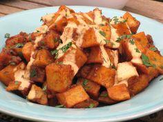 Patatas Bravas Home Fries with Roasted Tomato Aioli recipe from Bobby Flay via Food Network
