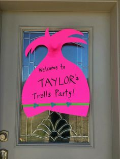 Trolls poppy decor