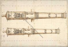 Diseny de dos canons. Un de a 24 lliures (el Rayo) i l'altre de a 16 (el Trueno). Datat del 1715.  https://www.facebook.com/177421425621096/photos/a.397400720289831.102882.177421425621096/616726045023963/?type=1