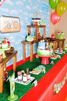 Kara's Party Ideas Angry Birds Boy Video Game Birthday Party Planning Ideas