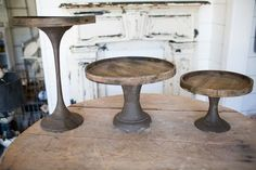 Tapered Wooden Cake Stands - loves these stands from magnolia Homes in Waco, TX!