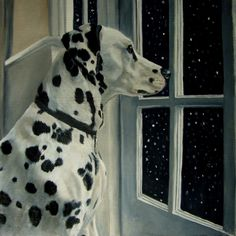 Let It Snow, painting by artist Anne Zoutsos