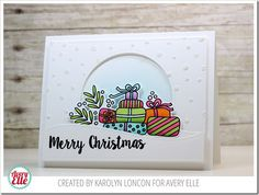 Avery Elle Christmas Packages Card by Karolyn Loncon.