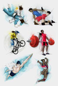 Cromos- Olympics by Andrés Moncayo, via Behance