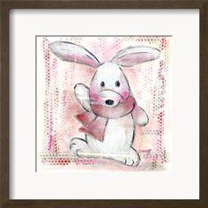 Lapin Rose Poster di Joelle Wolff su AllPosters.it