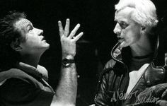 Ridley at Work  Ridlet Scott and Rutger Hauer on the Blade Runner set.