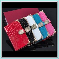 Note Edge - Gorgeous Glitter Full Body Wallet Case in Assorted Colors